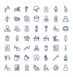 49 worker icons vector