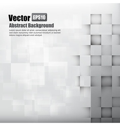 Abstract background light grey with basic geometry vector image