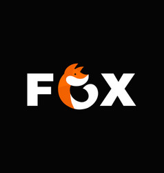 abstract fox flat icon vector image