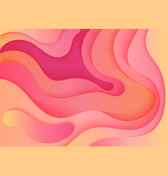 abstract volumetric 3d color paper cuted art vector image