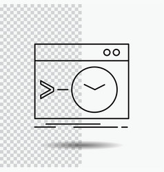 Admin command root software terminal line icon on vector