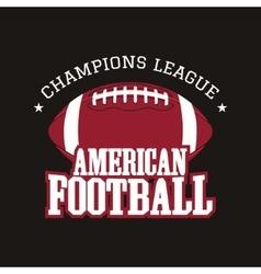 American football champions league badge logo vector