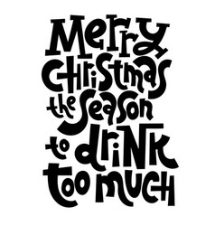antichristmas lettering quotes vector image