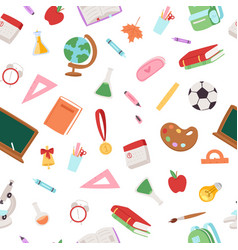 back to school collection seamless pattern vector image