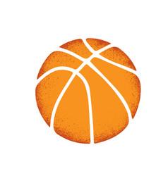 basketball grunge sign vector image