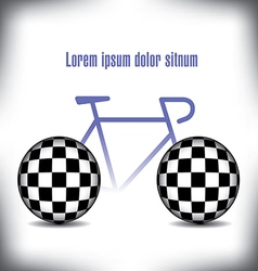 Bicycle checkered vector image
