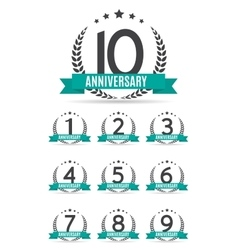 Big Collection Set of Template Logo Anniversary vector image