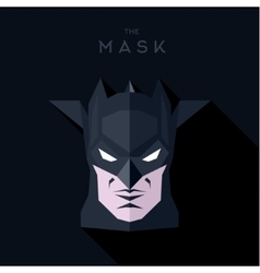 Black mask with wings hero antihero into flat vector