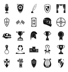 Bounty icons set simple style vector