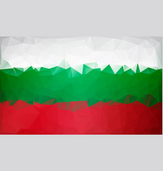 bulgarian flag low poly white green red flag vector image