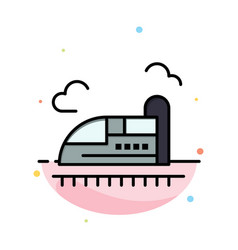Bullet train high speed abstract flat color icon vector