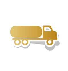 Car transports sign golden gradient icon vector
