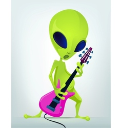 Cartoon alien guitar vector image