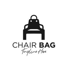 chair bag inspiration logo vector image