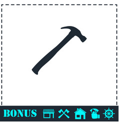 claw hammer icon flat vector image
