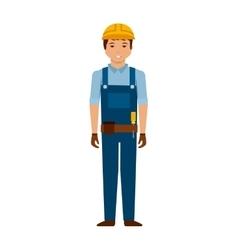 construction worker cartoon icon vector image