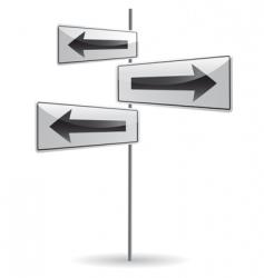 crossroad with arrow vector image vector image