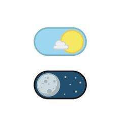 Day and night mode application icons vector