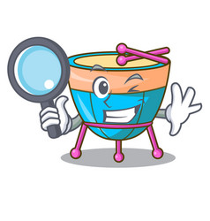 Detective cartoon timpani in the orchestra group vector