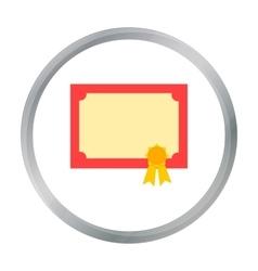 Diploma icon cartoon Single education icon from vector