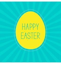 Easter yellow egg Sunburst background Card vector image