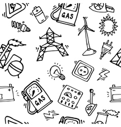 Energy Icons Pattern vector image vector image
