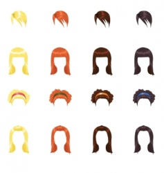 female hair vector image