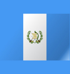 Flag guatemala flat icon vector