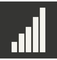Flat in black and white mobile application chart vector image