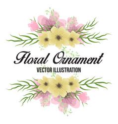 floral ornament for wedding design vector image