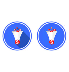 Funnel round flat icon vector