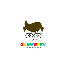 Game geek logo vector