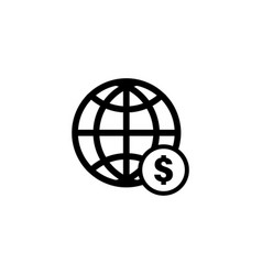 global dollar icon graphic design template vector image