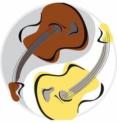 guitar yinyang vector image vector image