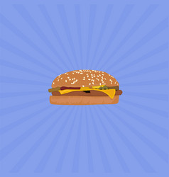 hamburger with blue background vector image