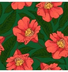 Hand Drawn Seamless Flower Pattern vector image