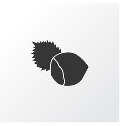 hazelnut icon symbol premium quality isolated vector image