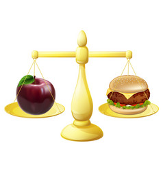 healthy eating scales decision vector image