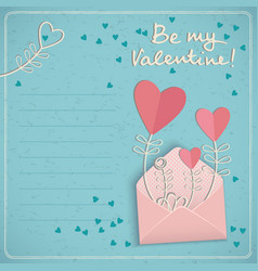 Holiday love postcard vector