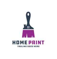 House building paint logo vector