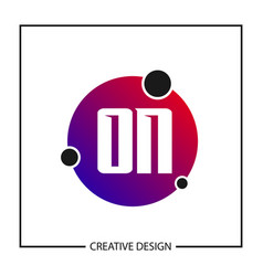 initial letter on logo template design vector image