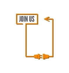 Join Us sign vector