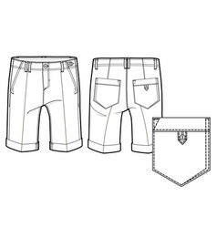 Knee length shorts vector