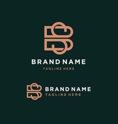 Letter bs logo template vector