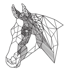 Lines Horse Head vector