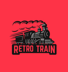 locomotive retro black vector image