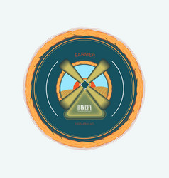 logotype for baker vector image