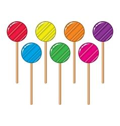 lollipop candy balls vector image
