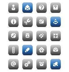 Matt miscellaneous buttons vector