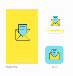 message company logo app icon and splash page vector image